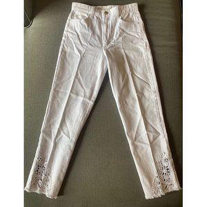 Joe's Jeans High Rise Straight Crop White Jean